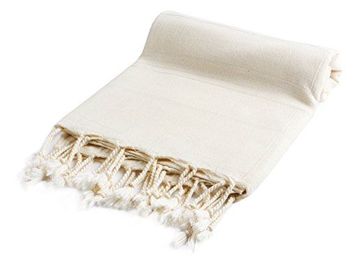 Pestemal Turkish Bath Towels 37×70 %100 CottonTM by Cacala Natural