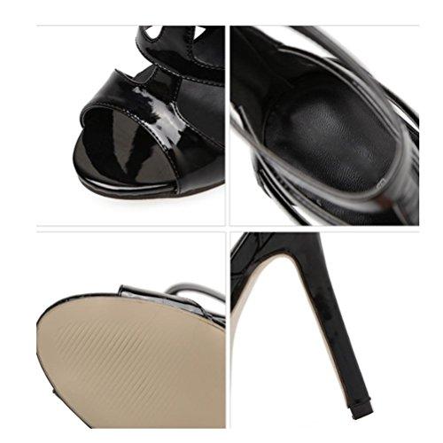 talon rivet talons robe chaussures de un d'été white soirée sandales soirée strass Open hauts bande Toe paquet XIE romain transparent à bande mot femmes HqCta0pxnw