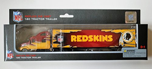 Press Pass 2009 NFL Tractor Trailer 1:80 Scale Diecast Truck - WASHINGTON REDSKINS (Diecast Nfl Tractor Trailer)