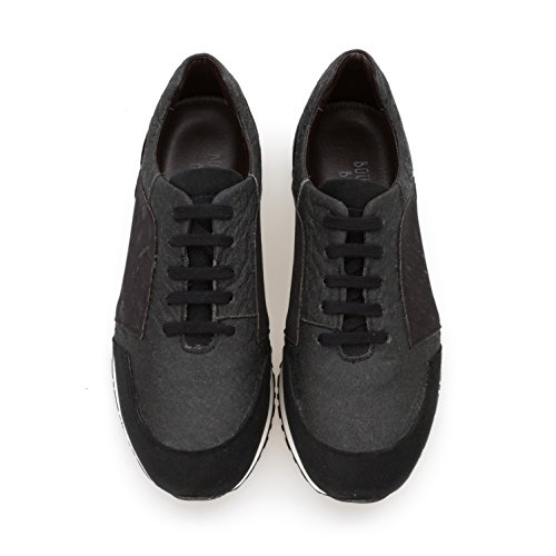 Black Trainers Womens Casey Pinatex Boheme Black Bourgeois Vegan gXqORwB8x