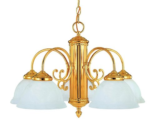 Savoy House KP-1-502-5 Iron 5 Light Down Lighting Chandelier from the Liberty Collection