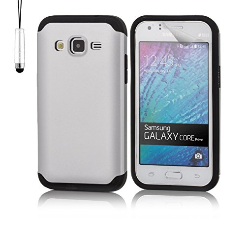 32nd Slim Armour Shockproof case Cover for Samsung Galaxy Core Prime (SM-G360) - Silver