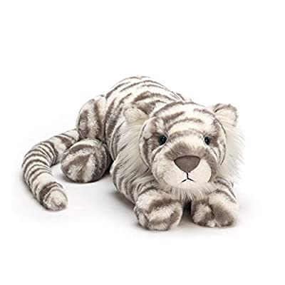 Jellycat Sacha Snow Tiger Stuffed Animal, Little, 10 inches: Toys & Games