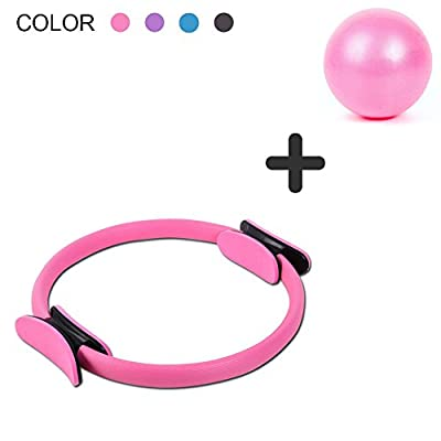 DANLIAWOMEN Pilates Ring Circle Physical Therapy Mini Small Ball for Inner Thigh Exercise Fitness Sports core Training Toner Equipment