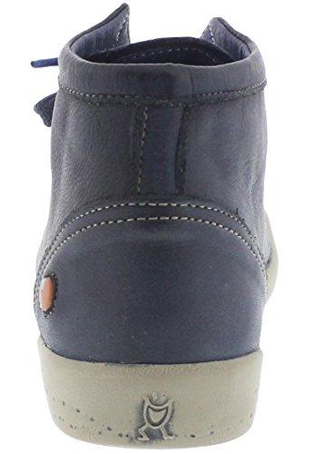 Softinos Damen Isleen Washed Hohe Sneaker, Blau (Navy), 35 EU