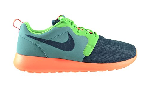 Nike Roshe Run Hyperfuse Men's Shoes Catalina/Space Blue-Passion Green-Hyper Crimson 636220-300 (8 D(M) US)