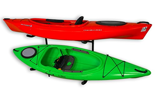 Sparehand Catalina Freestanding Double Storage Rack System for 2 Kayaks, 2 SUPs, or Canoe