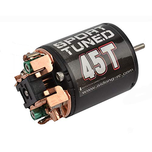 540 Modified Brushed Motor 35T/45T/55T for CC01/F350/D90/AXIAL/SCX10 Rock Crawler car (45T) ()