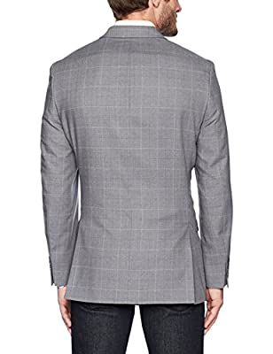 Calvin Klein Men's Malik Slim Fit Single Breast 2 Button Blazer