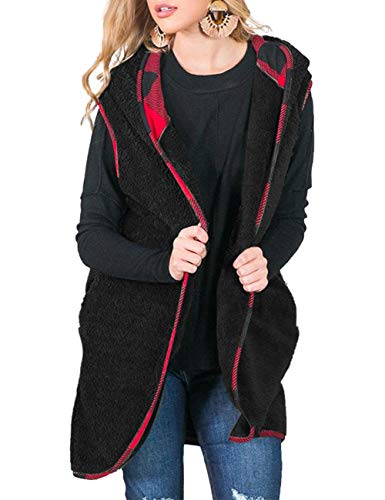 MEROKEETY Womens Sleeveless Cardigans Pockets product image