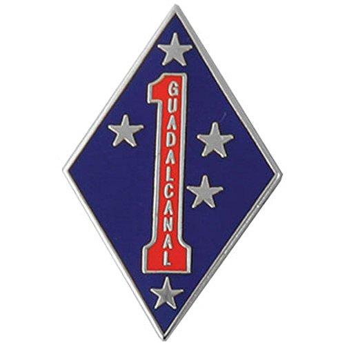 1st Marine Division Guadalcanal Lapel Pin