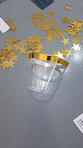 Gold Plastic Cups 9 Oz Set of 100 By Wonder Sky -