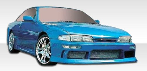 1995-1996 Nissan 240SX Duraflex M-1 Body Kit - 4 Piece - Includes M-1 Sport Front Bumper Cover (101637) V-Speed Rear Bumper Cover (101650) V-Speed Side Skirts Rocker Panels (240sx V-speed Rear Bumper)