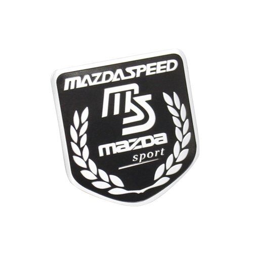 Side Rear Decal Mazdaspeed Emblem Badge Sticker For Mazda Racing Sport Black (Mazda 6 Racing)
