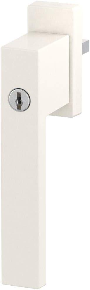 Design Aluminium Fenstergriff abschlie/ßbar Stiftl/änge:35mm pulverbeschichtet Farbe:Braun RAL 8019