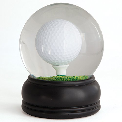 Bits and Pieces - Golf Ball Water Globe Challenge - Balance the Golf Ball on the Tee - Miniature Table Games - Perfect Desktop and Office Accessory (Tee Ball Golf On A)