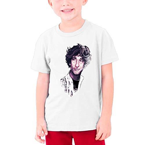 Young Neil Gaiman Summer Stylish Cotton Concert Basketball Short Sleeves T-Shirt Gift M ()