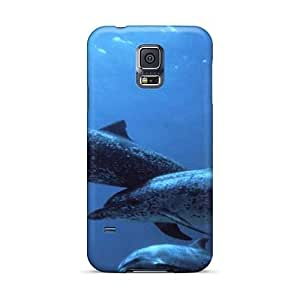 Samsung Galaxy S5 EeG240hgNO Unique Design Lifelike Animals Ocean Dolphins Image Best Cell-phone Hard Covers -88bestcase