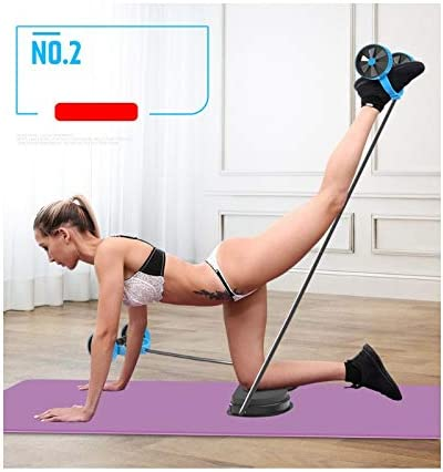 SZCQ Men Ab Roller Wheel with Resistance Band Women Flex Abdominal Trainers Double Rollers Home Gym Multi-Functional Exercise Knee mat Body Fitness Equipment Core Ab Workout 9