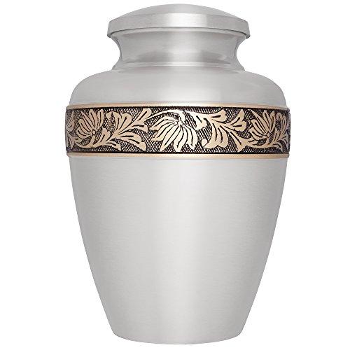 Grey Gold Funeral Urn by Liliane Memorials - Cremation Ur...