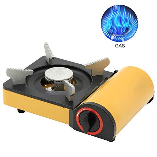 Rbaysale Portable Camping Gas Stove, 2kw Calorific Value Cassette Stove Butane Gas Burner Cassette Grill, 0.9kg Lightweight