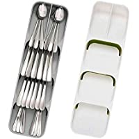 Cutlery Storage Box Plastic Knife Block Holder Drawer Knives Fork Spoons Storage Rack Knife Stand Cabinet Tray Kitchen…