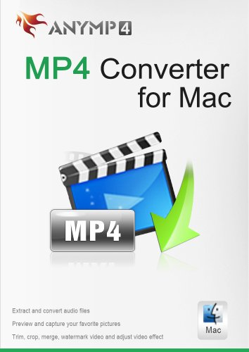 AnyMP4 MP4 Converter for Mac Lifetime License - Convert DVD or any video like FLV, AVI, MKV, WMV, TS, MOV, M2TS, and more to/from MP4 on Mac [Download]