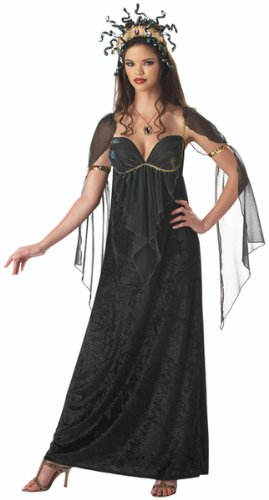 [Mythical Medusa Costume - Large - Dress Size 10-14] (Medusa Headpiece Halloween Costume)