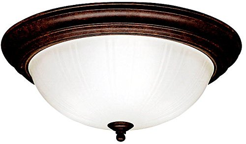 Kichler 8655TZ Flush Mount 3-Light, Tannery Bronze