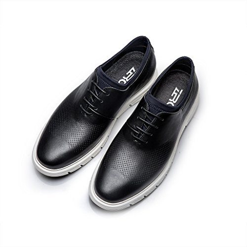 ZRO Men's Lace-Up Casual Fashion Sneakers Breathable Athletic Sports Shoes Black US 8 by ZRO (Image #6)