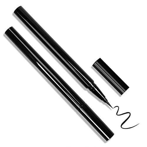 Waterproof Liquid Eyeliner, Docolor Black Eye liner Makeup Drama Lasting Slim Liquid Eyeliner Pen, Makeup tools (Docolor Black Eyeliner)