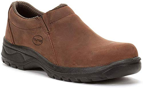 (Oliver by Honeywell 49431-BRN-070 oiled nubuck Slip-on Industrial Men's Steel Toe (Size-7))