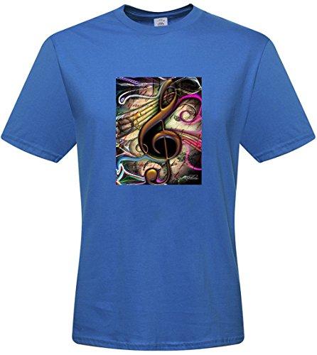 DIY mens Music Note T-shirts,custom cotton Tshirt