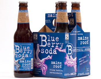 Blueberry Soda - Maine Root - Blueberry Soda (100% Fair Trade & Organic), Buy TWENTYFOUR Bottles and SAVE, Each Bottle is 12 Ounces (Pack of 24)