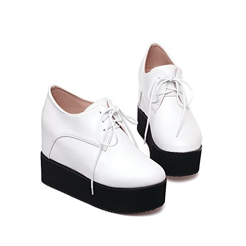 1TO9, Scarpe col tacco donna, Bianco (White), 35