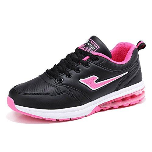 Sneakers Marche Mesdames Légères Pink de de Randonnée Course Mode Coussin en Femmes Casual Chaussures Chaussures Cuir de Chaussures UBWFUcTv