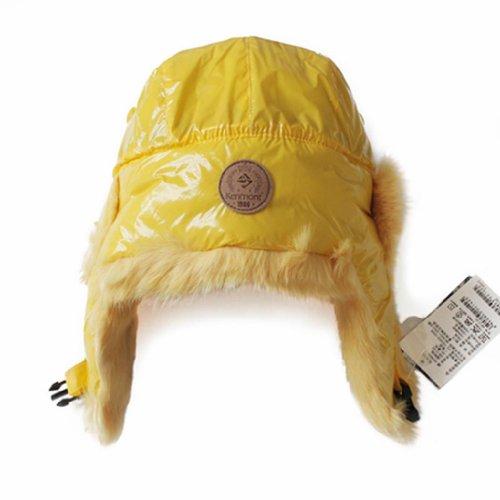 Kenmont Women's Aviator Hat Rabbit Fur Trooper Winter Ski 23.2inch Yellow