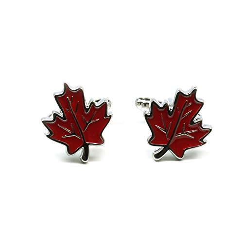 - Teri's Boutique Canda Canadian Maple Leaf Men's Fashion Cufflinks w/ Free Gift Box