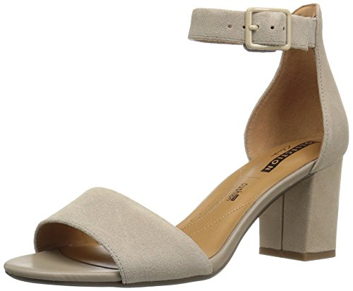 CLARKS Women's Deva Mae Dress Sandal, Sand Suede, 8.5 M US (Clarks Dress Sandals)