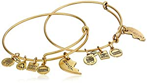 Alex and Ani Charity by Design Best Friends Rafaelian Gold-Tone Bangle Bracelet, Set of 2