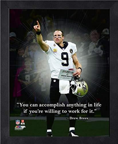 (Drew Brees New Orleans Saints ProQuotes Photo (Size: 12