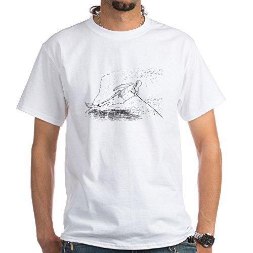 (CafePress Water Ski White T-Shirt 100% Cotton T-Shirt, White )