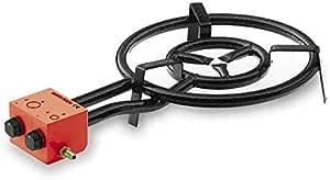 LACOR 63761-Paellero Gas Butano, 3 Quemadores, 60 cm