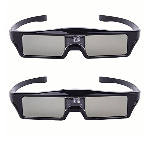 Bluetooth RF Active Shutter Type 3D Glasses Chargeable for Epson Projector and SONY Samsung Panasonic TV (2PCS)