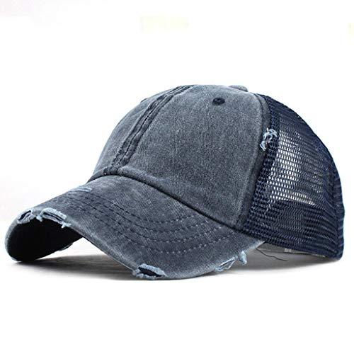 Vintage Distressed Cotton Dad Hat Ponytail Mesh Baseball Cap Adjustable Polo Trucker Unisex By Sagton -