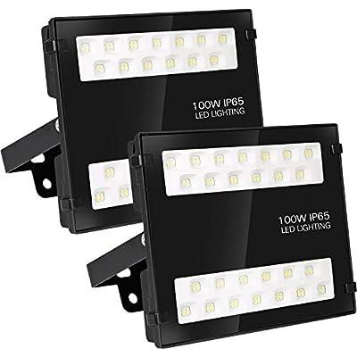 Hykolity 150W LED Security Flood Light, 15000lm Outdoor Commercial LED Area Light, Weatherproof Parking Lot Lighting Fixture, 5000K Daylight