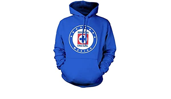 New! Cruz Azul Crest Soccer Hoodie Mens Sweatshirt at Amazon Mens Clothing store: