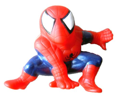 Miniature Spiderman Figurine with Suction Cup - Spiderman Figure