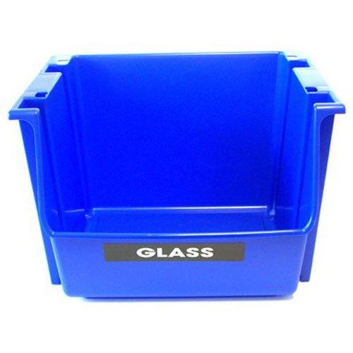 (United Solutions EcoSense SB0028 Blue Plastic Stackable Recycling Bin, 1 Qty)