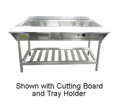 Adcraft EST-240 Electric Four Compartment Water Bath Steam Table 57.25